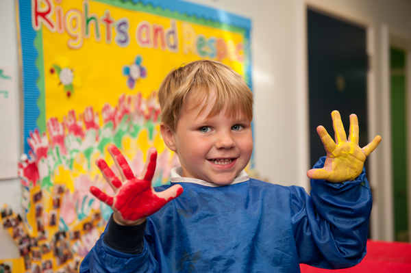 Nursery Hands with paint